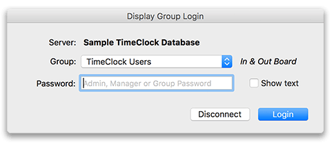 Virtual TimeClock Group Security