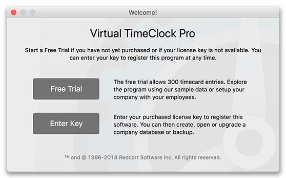 Virtual TimeClock Pro Welcome