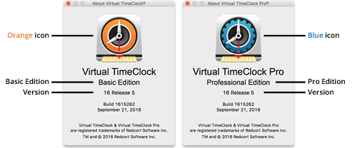 Virtual TimeClock About Windows