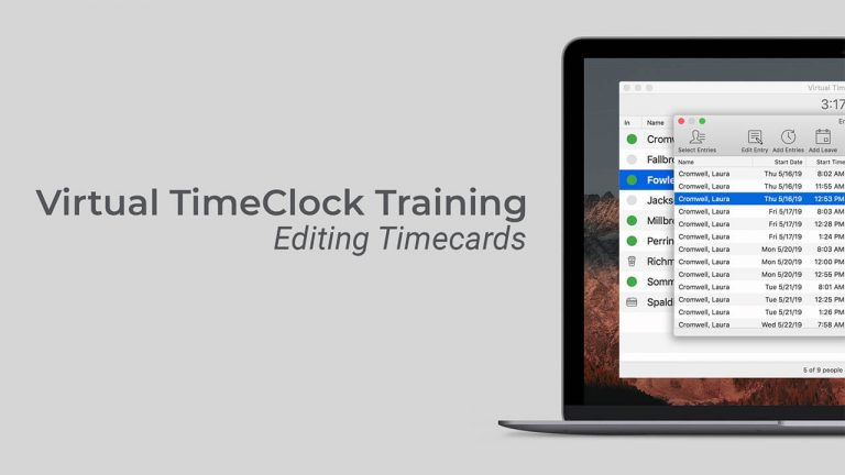 Editing Timecards video thumbnail