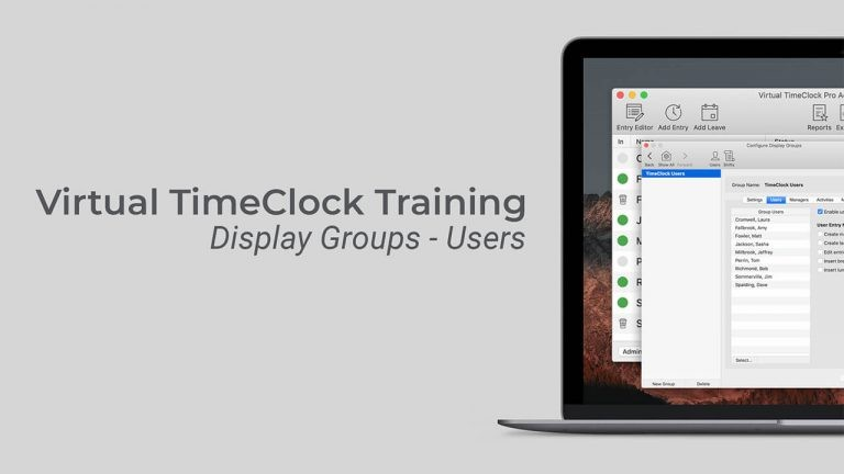 Virtual TimeClock Training User Settings