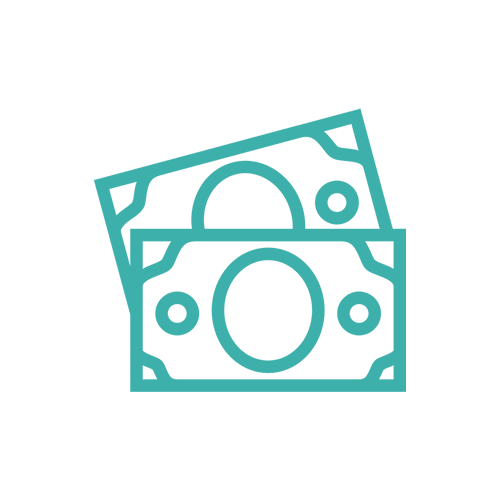 Wages dollars icon