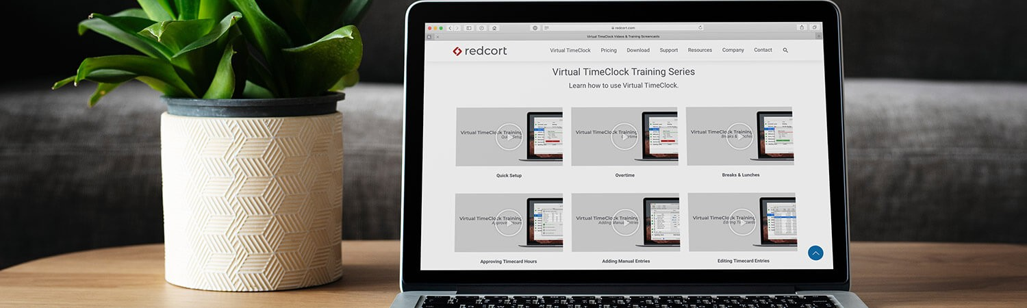 Redcort Website Video landing page