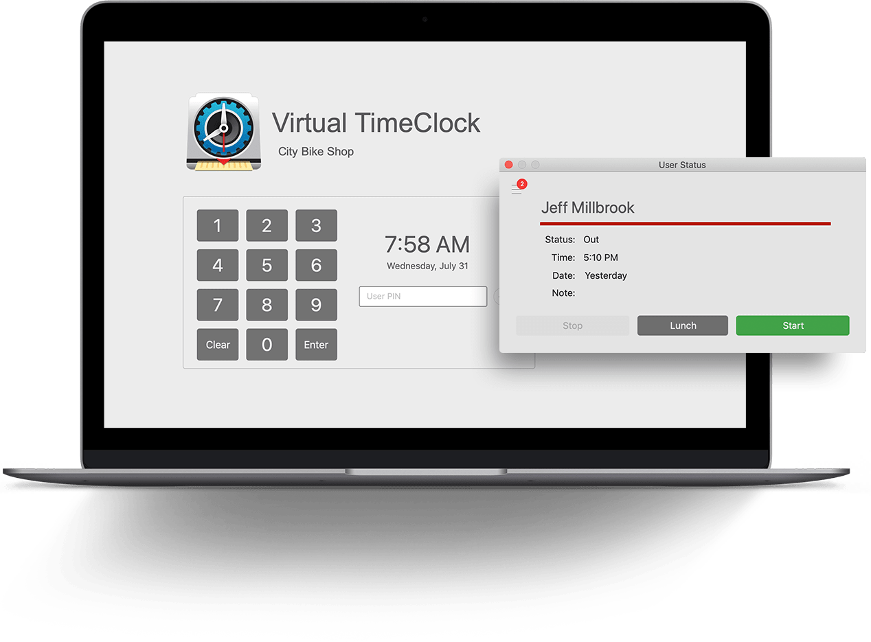 Virtual TimeClock Software
