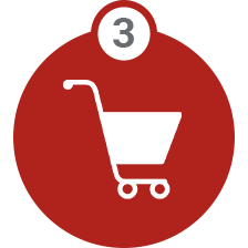 Shopping cart buy icon